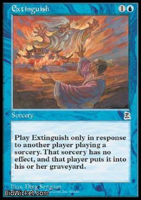 Extinguish, Portal Three Kingdoms, Magic the Gathering