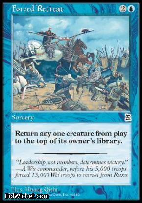 Forced Retreat, Portal Three Kingdoms, Magic the Gathering