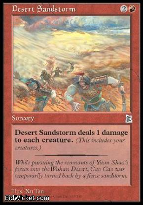 Desert Sandstorm, Portal Three Kingdoms, Magic the Gathering