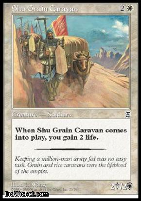 Shu Grain Caravan, Portal Three Kingdoms, Magic the Gathering