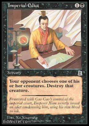 Imperial Edict, Portal Three Kingdoms, Magic the Gathering
