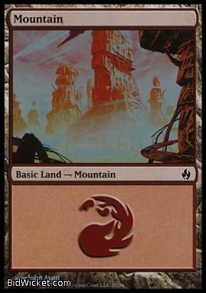Mountain (31), Premium Deck Series: Fire and Lightning, Magic the Gathering