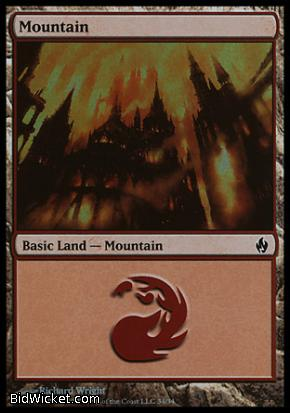Mountain (34), Premium Deck Series: Fire and Lightning, Magic the Gathering