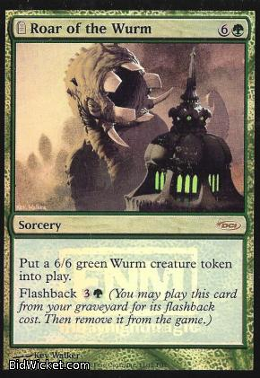 Roar of the Wurm (FNM), Promotional Cards, Magic the Gathering