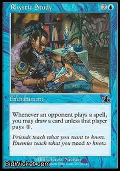 Rhystic Study, Prophecy, Magic the Gathering