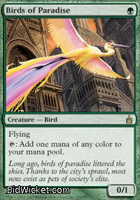 Birds of Paradise, Ravnica, Magic the Gathering