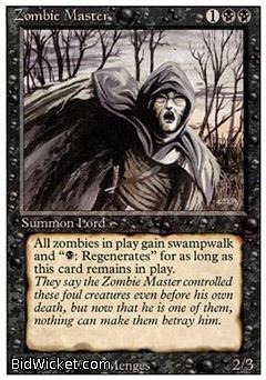 Zombie Master,Revised, Magic the Gathering
