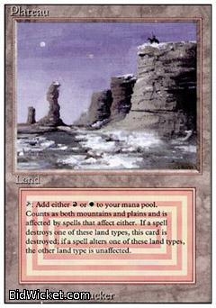 Plateau, Revised, Magic the Gathering