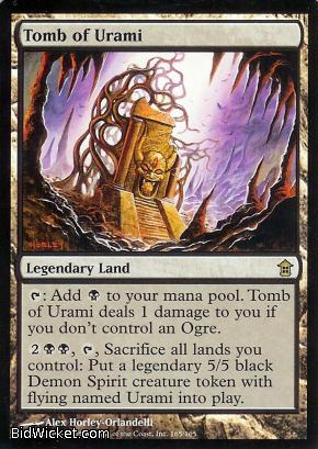 Tomb of Urami, Saviors of Kamigawa, Magic the Gathering
