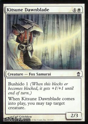 Kitsune Dawnblade, Saviors of Kamigawa, Magic the Gathering