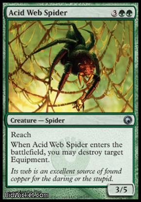 Acid Web Spider, Scars of Mirrodin, Magic the Gathering