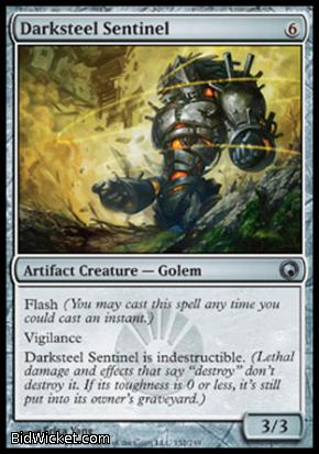 Darksteel Sentinel, Scars of Mirrodin, Magic the Gathering