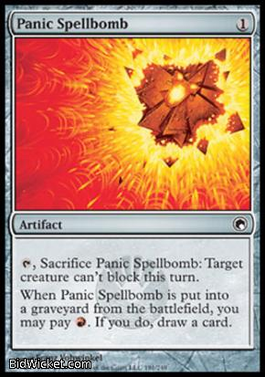 Panic Spellbomb, Scars of Mirrodin, Magic the Gathering