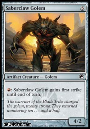 Saberclaw Golem, Scars of Mirrodin, Magic the Gathering