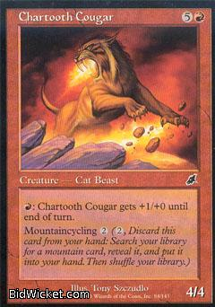 Chartooth Cougar, Scourge, Magic the Gathering