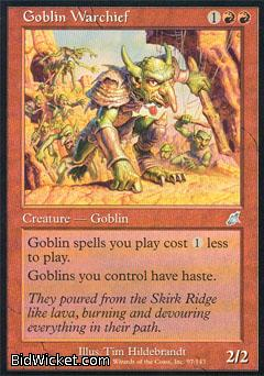 Goblin Warchief, Scourge, Magic the Gathering