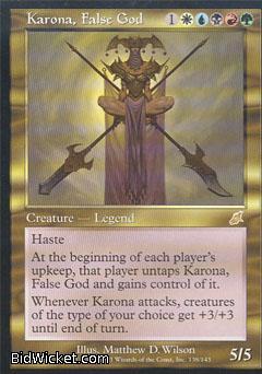 Karona, False God, Scourge, Magic the Gathering