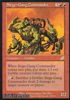Siege-Gang Commander, Scourge, Magic the Gathering