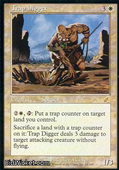 Trap Digger, Scourge, Magic the Gathering