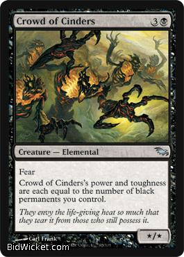 Crowd of Cinders, Shadowmoor, Magic the Gathering