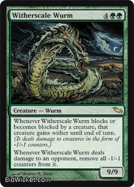 Witherscale Wurm, Shadowmoor, Magic the Gathering