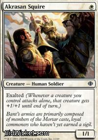 Akrasan Squire, Shards of Alara, Magic the Gathering