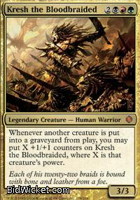 Kresh the Bloodbraided,Shards of Alara, Magic the Gathering
