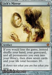 Lich's Mirror,Shards of Alara, Magic the Gathering