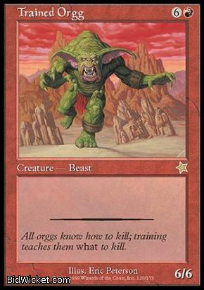 Trained Orgg, Starter 1999, Magic the Gathering