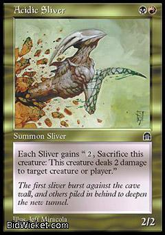 Acidic Sliver, Stronghold, Magic the Gathering