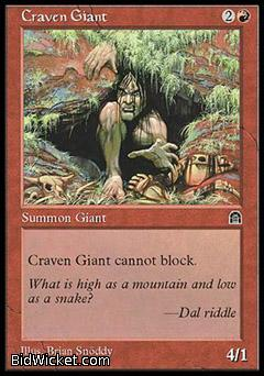Craven Giant, Stronghold, Magic the Gathering