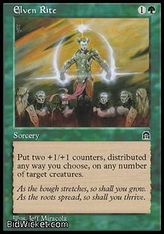Elven Rite, Stronghold, Magic the Gathering