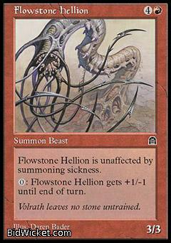 Flowstone Hellion, Stronghold, Magic the Gathering