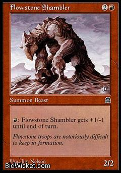Flowstone Shambler, Stronghold, Magic the Gathering