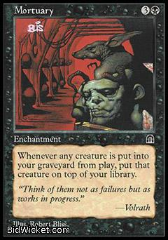 Mortuary, Stronghold, Magic the Gathering
