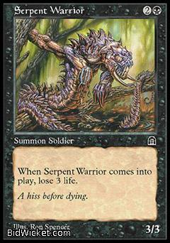 Serpent Warrior, Stronghold, Magic the Gathering