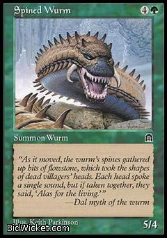 Spined Wurm, Stronghold, Magic the Gathering