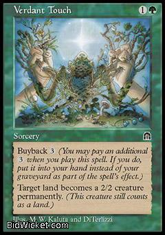 Verdant Touch, Stronghold, Magic the Gathering