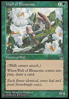 Wall of Blossoms, Stronghold, Magic the Gathering