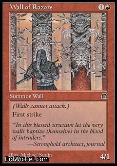 Wall of Razors, Stronghold, Magic the Gathering
