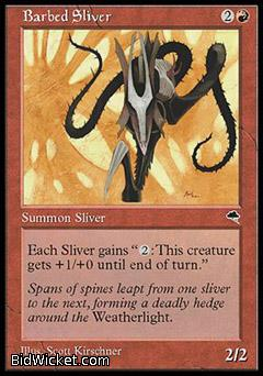 Barbed Sliver, Tempest, Magic the Gathering