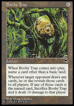 Booby Trap, Tempest, Magic the Gathering