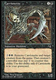 Carrionette, Tempest, Magic the Gathering
