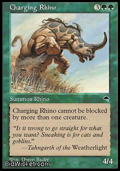 Charging Rhino, Tempest, Magic the Gathering