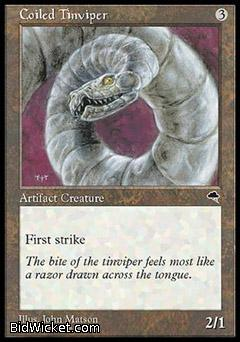 Coiled Tinviper, Tempest, Magic the Gathering