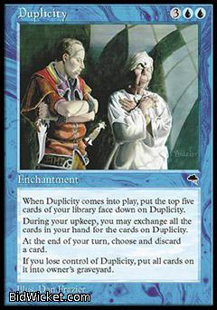 Duplicity, Tempest, Magic the Gathering