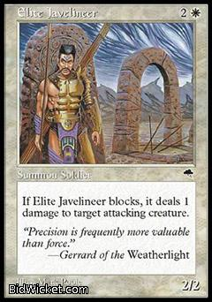 Elite Javelineer, Tempest, Magic the Gathering