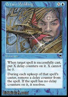 Ertai's Meddling, Tempest, Magic the Gathering