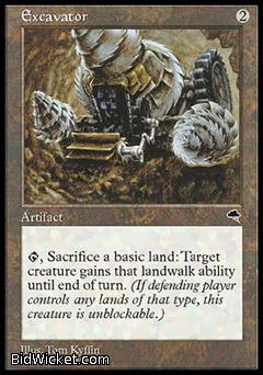 Excavator, Tempest, Magic the Gathering