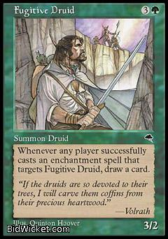 Fugitive Druid, Tempest, Magic the Gathering